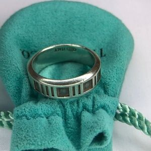 Vintage 1995 Tiffany Roman Numerals Atlas Ring 8+